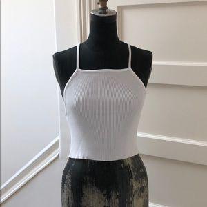 Zara rib knit crop top tank